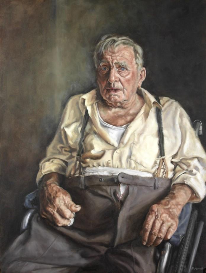 """Mark Fennell, """"Len"""" – Oil on canvas 101cm x 76cm"""